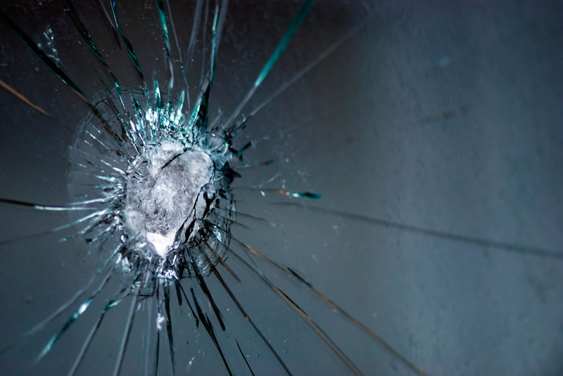 bullet proof resistant glass
